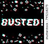 vector busted phrase in pixel... | Shutterstock .eps vector #795218275