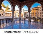 ancient italian square arches...   Shutterstock . vector #795218347