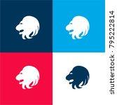 leo lion head side four color...