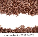 closeup of coffee beans on... | Shutterstock . vector #795224395