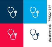 stethoscope medical tool four... | Shutterstock .eps vector #795224899
