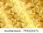 realistic triangular gold shiny