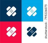 bandage cross four color... | Shutterstock .eps vector #795226075