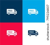 free delivery truck four color...