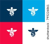 caduceus medical symbol of two... | Shutterstock .eps vector #795226861