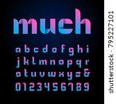 ribbon font. vector alphabet... | Shutterstock .eps vector #795227101