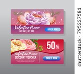 valentine day promo discount... | Shutterstock .eps vector #795227581