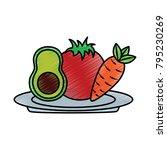 vegetable icon image    Shutterstock .eps vector #795230269