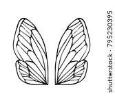 butterfly wings vector... | Shutterstock .eps vector #795230395