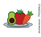 vegetable icon image    Shutterstock .eps vector #795230611