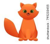 cat cute cartoon character... | Shutterstock .eps vector #795233455
