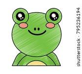cute portrait frog animal baby | Shutterstock .eps vector #795236194