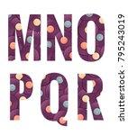 retro vinyl records alphabet... | Shutterstock .eps vector #795243019