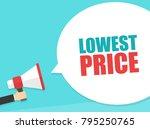 male hand holding megaphone...   Shutterstock .eps vector #795250765