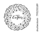 happy easter lettering design... | Shutterstock .eps vector #795253189