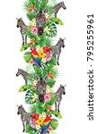 tropical seamless vertical... | Shutterstock .eps vector #795255961