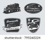 set of vintage concrete mixer... | Shutterstock .eps vector #795260224