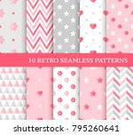 ten different seamless patterns.... | Shutterstock .eps vector #795260641