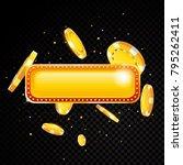 golden vector casino vegas sign ... | Shutterstock .eps vector #795262411
