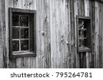 Old Wooden Window Covered With...
