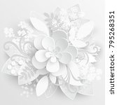 paper flower. chamomile are cut ... | Shutterstock .eps vector #795268351