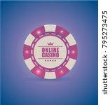 vector red white casino poker... | Shutterstock .eps vector #795273475