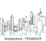 city buildings vector... | Shutterstock .eps vector #795280129