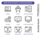 web development and programming ...   Shutterstock .eps vector #795280321