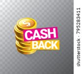 vector cash back icon isolated... | Shutterstock .eps vector #795283411