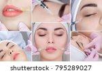 collage rejuvenating facial... | Shutterstock . vector #795289027