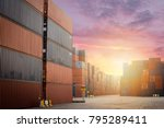container cargo freight box for ... | Shutterstock . vector #795289411