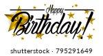 happy birthday  beautiful... | Shutterstock .eps vector #795291649