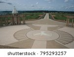 view of the circular paved... | Shutterstock . vector #795293257
