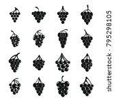 grape wine bunch icons set....   Shutterstock .eps vector #795298105