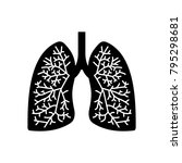 human lungs icon | Shutterstock .eps vector #795298681