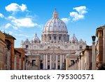 St. Peter's Basilica. Vatican...