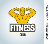 fitness vector logo design... | Shutterstock .eps vector #795301957