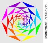 Spiral Colorful Mandala  Vecto...