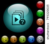 unknown playlist icons in color ... | Shutterstock .eps vector #795320035