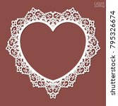 laser cut heart shaped frame.... | Shutterstock .eps vector #795326674