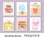 set of beautiful greeting cards ...   Shutterstock .eps vector #795327475
