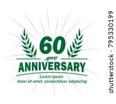 60 years anniversary logo.... | Shutterstock .eps vector #795330199
