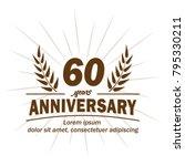 60 years anniversary logo.... | Shutterstock .eps vector #795330211