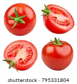 tomatoes collection isolated on ... | Shutterstock . vector #795331804