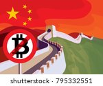 bitcoin trade is limited in... | Shutterstock . vector #795332551
