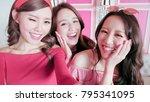 beauty women selfie and dine in ... | Shutterstock . vector #795341095