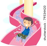 illustration of a kid on a...   Shutterstock .eps vector #79534420