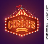Circus Light Sign. Vintage...
