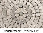 closeup view on a cobblestone...   Shutterstock . vector #795347149