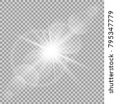 vector transparent sun flash... | Shutterstock .eps vector #795347779